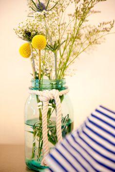 Flower Arrangements  Nautical Bridal Shower  Crate & Barrell  Red, White, & Blue  Weddings  Decorating Ideas  http://dominojr.wordpress.com/