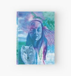 'Dreamscape' Hardcover Journal by Ria Rademeyer Wolf Totem, Journal Design, Animal Totems, Sell Your Art, Art Boards, Prints, Painting, Animals, Animales