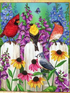 Jane Maday...Colorful Garden...