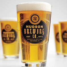 Very stylish personalized pub glasses!  Perfect for a milestone birthday, because they have the year and city you were born in on them.