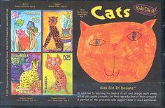 "2006_""Kids-Did-It_Designs:_Cats""_sheetlet_Stamps-Marlen Stamp and Coins Ltd."
