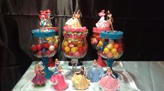 Handmade, Disney Princess figurines mason glass jars.Great for party center piece, gifts, home or office décor. Jars are great to put any type of goodies you deseire. If you are Interested email at karlac@miamidade.gov