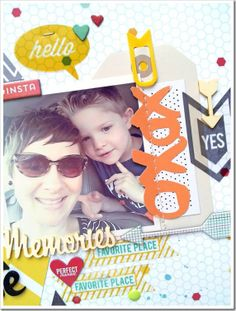 Wednesday with Ashley H. Hip Kit Club, Hexagon Pattern, Scrapbooking, Layout, My Love, Store, Amazing, Projects, Fun