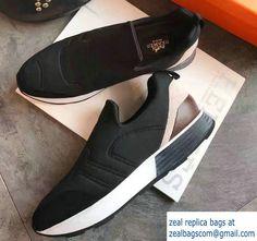 Hermes Heel 3cm Miles Sneakers Black 2017