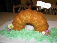 """For Easter celebration?  """"Empty tomb"""" Bundt cake."""