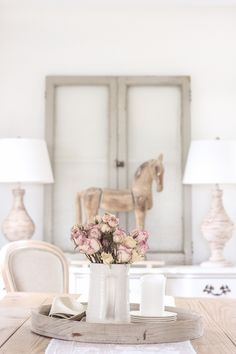 The Windy Lilac- Sharing All Things Home-Cozy French Country Decor and Decorating, DIY's Crafts and Outdoors French Country Porch, French Country Decorating, Country Porches, Cottage Decorating, Raw Wood Furniture, Unfinished Wood Furniture, Dining Area, Dining Room, Farmhouse Style