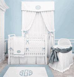Baby boy nursery complete w monogram <3