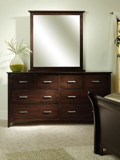 You'll save on every piece of furniture at Amish Outlet Store! We custom make every item, and you can get the Riverview Mission Dresser w/Mirror in Oak with any wood and stain.