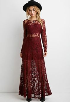 Floral Lace Maxi Dress | Forever 21 - 2000174723032