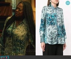 Annalise's blue paisley print blouse on How to Get Away with Murder King Outfit, Daily Street Looks, Studded Heels, How To Get Away, Printed Blouse, Paisley Print, King Clothes, Annalise Keating, Street Wear