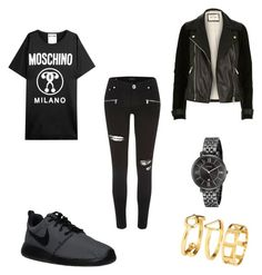 """Day out"" by livialione on Polyvore featuring River Island, NIKE, FOSSIL, H&M and Moschino"