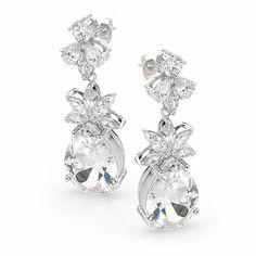 Swarovski Crystal EARRINGS | Brilliant Swarovski Crystal Wedding Earrings