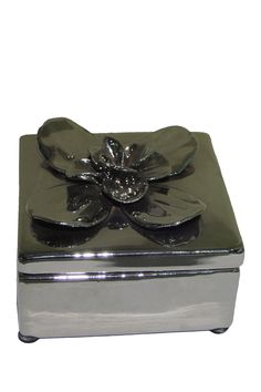SAGEBROOK HOME - Rochelle Silver Flower Box is now 18% off. Free Shipping on orders over $100.