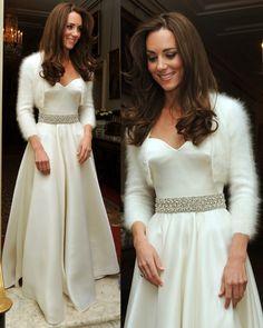 Kate Middleton, segundo vestido de novia, diseño Alexander McQueen