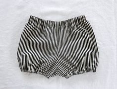 striped cotton bloomers / shorts / diaper cover by swallowsreturn, $19.00