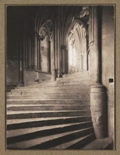 Stairs to the Chapter House, Wells by Frederick H. Evans, 1900