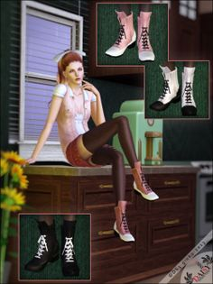 Outfit and boots at Daisy Sims 3 - Sims 3 Finds