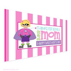 $2.39  blond-superhero-mom-mothers-day-printables-by-lauren-mckinsey_jumbo-candy-bar-wrappers_1