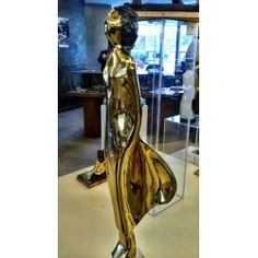 Alfred Tibor Sculpture In The Wind, Gold Plated. Available at Argo & Lehne Jewelers.
