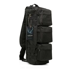 9a9083c3a Amazon.com : G4Free Tactical Sling Bag Chest Pack, Military Assault  Messenger Backpack for Gym Hiking Camping with MOLLE System (Black) :  Sports & Outdoors