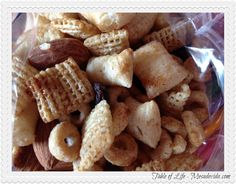 Honey Vanilla Cinnamon Healthy Homemade Snack Mix