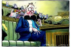 13 January 2014. A UKIP gun is being held to Cameron's head over the EU. By Morland.