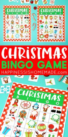 This festive Christmas Bingo Game is a ton of fun for kids and adults! 35 different bingo calling cards, so it's great for both classic bingo and blackout! Christmas Bingo Game, Xmas Games, Christmas Printables, Bingo Games For Kids, Calling Cards, Wedding Art, Animal Design, Winter Time, Art Quotes