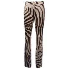 Giambattista Valli zebra print trouser ($1,340) ❤ liked on Polyvore