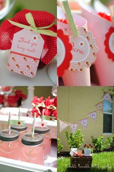 Strawberry Picnic Birthday Party Collection by Andressa Hara of Twinkle Twinkle Little Party