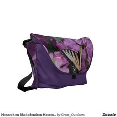 Monarch on Rhododendron Messenger Bag