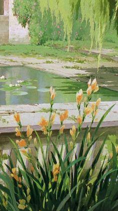 Studio Ghibli Art, Studio Ghibli Movies, Anime Scenery Wallpaper, Wallpaper Backgrounds, Aesthetic Art, Aesthetic Anime, Photo Widget, Otaku Anime, Anime Art