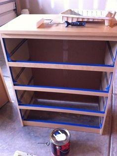 IKEA Malm Dresser Makeover with O'verlays
