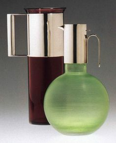 Pitchers designed by Massimo and Lella Vignelli for Venini between 1954 and 1960