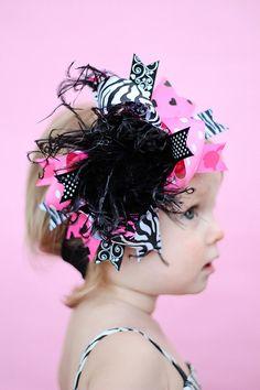 Boutique roca muñeca de cebra sobre el arco de cabello por andJane