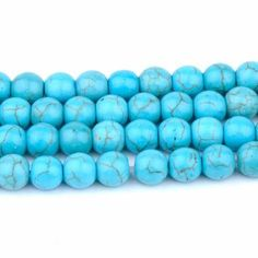 30pc 8mm Turquoise natural stone Beads bracelet natural stone