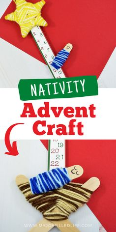Countdown For Kids, Advent For Kids, Christmas Crafts For Kids, Christmas Countdown, Christmas Fun, Holiday Crafts, Nativity Advent Calendar, Advent Calendar Activities, Advent Calendars