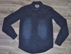 "Zara Man Denim Style  ""slim fit"" Shirt Small Trendy 100% Cotton mens Faded look #TheZaraMan #Shirt"