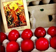 10 Tips for Perfect Red Pascha Eggs- use brown eggs, dry eggs w/ soft cloth… Orthodox Easter, Catholic Easter, Holy Thursday, Greek Easter, Easter Traditions, Easter Parade, Coloring Easter Eggs, Easter Celebration, Cake