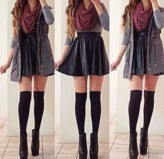 fall skirt outfits - Google Search