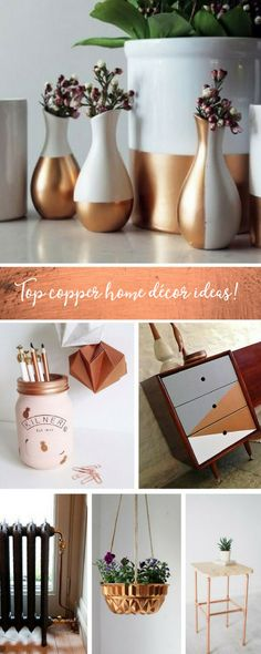 We've got together some simple tips and tricks to add a subtle amount of it into your home décor, so you can indulge in the trend too! #Craft #Copper #Homedecor #DIYcraft #makersgonnamake #Copperdecor #CopperDIY #DIYhomedecor #metalic