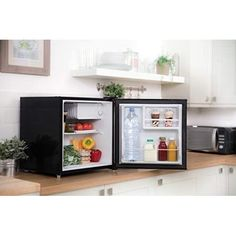Mini Table Top Fridge Portable Bedroom Compact Black Counter Small Drinks Cooler