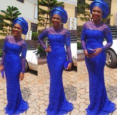 Love the color now to pick the pattern and bargain hunt lol blue dress and gele Nigerian wedding bride inspiration