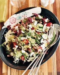 Chopped Greek Salad with Shallot Vinaigrette Recipe on Food & Wine
