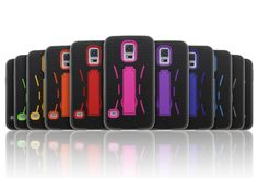 Robot bracket Rubber+PC cell phone case for S5