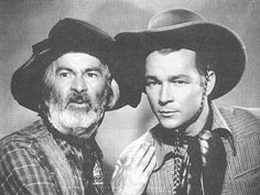 George 'Gabby' Hayes and Roy Rogers in '' Colorado''  1940