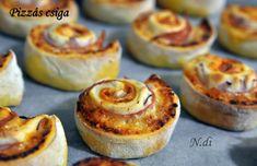 Gyors pizzás csiga (kelesztés nélkül) - Life Advice Ketchup, Baked Potato, Muffin, Potatoes, Baking, Breakfast, Ethnic Recipes, Food, Morning Coffee