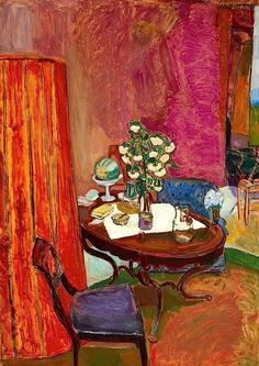 Studio Interior -  Martin Bloch 1914  Anglo-German Expressionist painter.1883-1954
