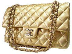# WholesaleBagClan.COM  Chanel Gold quilted handbag