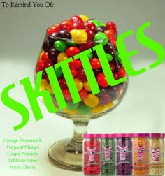 Skittles with sprinkles of soy wax.  Smells like the real thing! www.sprinklenation.com