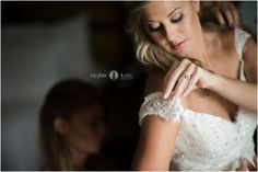 Wedding day  |  Bride to be  |  Getting ready  |  Bridal portraits  |  Blonde bride  |  Lace wedding gown  |  Aislinn Kate Photography